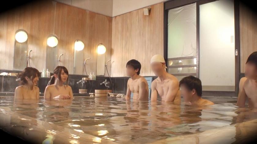 ゆう(23) 推定Fカップ なつ(23) 推定Eカップ 箱根湯本温泉で見つけたお嬢さん タオル一枚 男湯入ってみませんか? の画像6