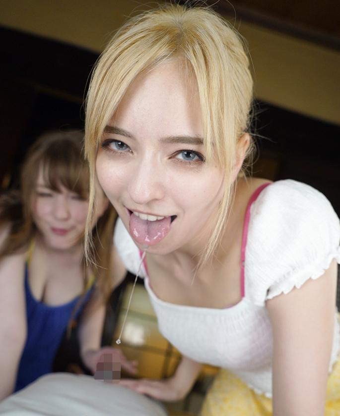 【VR】仰向けセンズリ用VR 金髪美女の青い瞳に見つめられながら全身舐め回しW騎乗位1