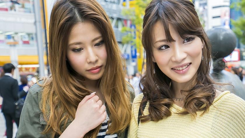 ユリ&アヤカ 渋谷でナンパしたギャルと4P生中出し!道玄坂のラブホで「おっきいの好き!舐めるの好きだよ。彼氏に怒られちゃう」今日のことは絶対カレ氏に言っちゃダメですよ!