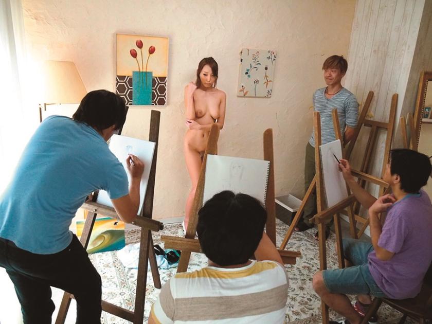 ヌードデッサンモデルをさせられた人妻 松嶋葵のサンプル画像1