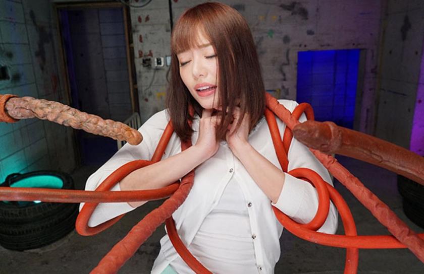 【VR】触手VR 大量発生した異形の群れ! 浜崎真緒1