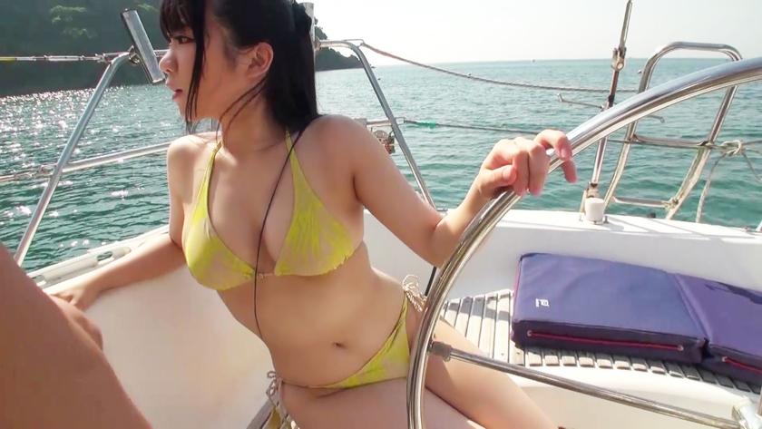 【船上水着合コンで大乱交】水着ギャルと4対4のクルージング青姦ww敏感巨乳のあんずちゃんと理性もぶっ飛ぶサマーセックス!!_pic2