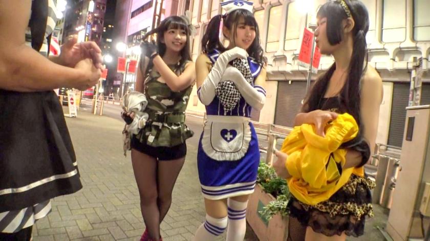 渋谷の街でハッピーハロ淫ナンパ!!オフパコ人数×××人のエロコスレイヤーが泥酔メス堕ち!淫乱ナース姿で大絶叫の鬼ピス交尾記録を未承認公開ww_pic0
