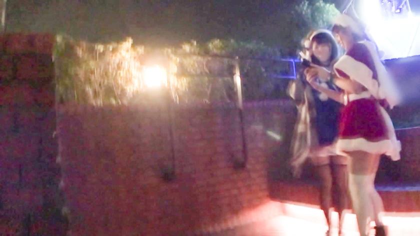 クリスマスイルミ煌めくスポットでナンパを敢行☆貞操観念ぶっ飛びアへりまくるちっぱいサンタに無許可の中〇しww ホットヨガのインストラクター かすみちゃん編-エロ画像-1枚目