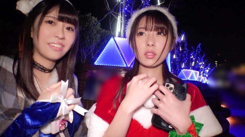 クリスマスイルミ煌めくスポットでナンパを敢行☆貞操観念ぶっ飛びアへりまくるちっぱいサンタに無許可の中〇しww ホットヨガのインストラクター かすみちゃん編-エロ画像-2枚目