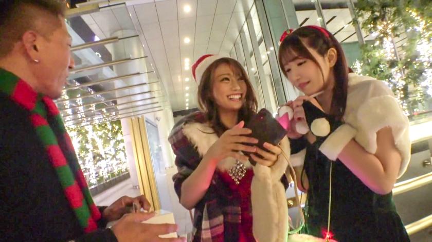 六〇木キャバクラ現役ギャル嬢(22)をクリスマスナンパ!!生意気マ〇コを泥酔させて大量潮吹きww駅弁から顔射まで屈服SEXフルコースでデカチン沼にハメちゃいました♪-エロ画像-1枚目