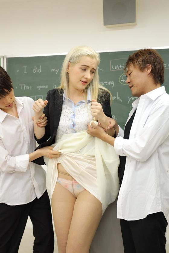 暴行教室 狙われた外国人女教師 サーシャ12