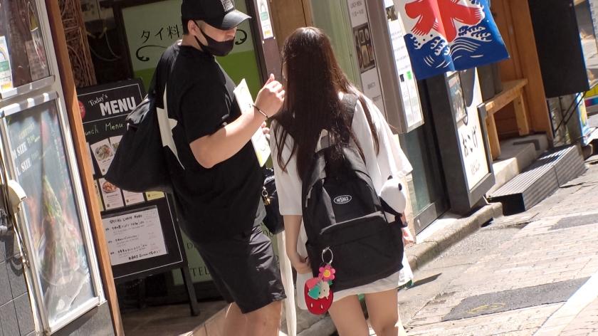 マジ軟派、初撮。 1692 「YOUは何しに渋谷へ?」ウソ企画で女子を品定めしていたら童顔巨乳JDを偶然GET!?小柄ボディ×高感度で激濡れマ●コを美味しくいただきました!-エロ画像-3枚目