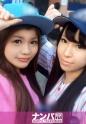 水野まりん,真島かおる - プロ野球観戦ナンパ 01 in 新宿