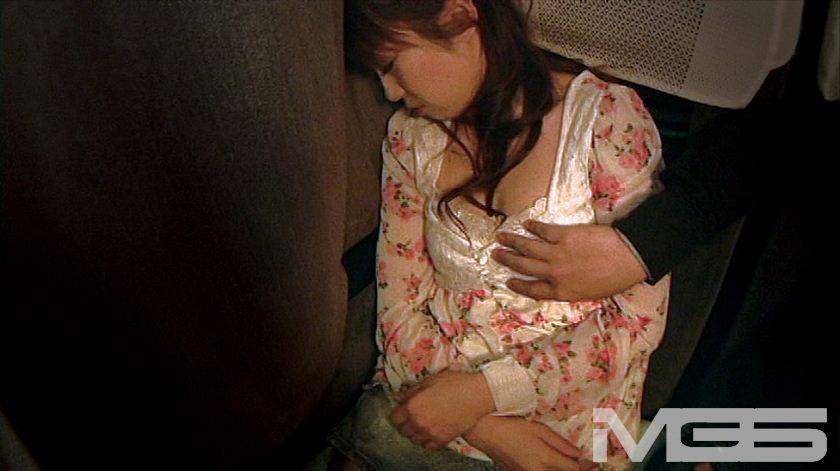 深夜特急バスで隣りに座ったお姉さんにチ○ポ出してヌキ依頼のサンプル画像14