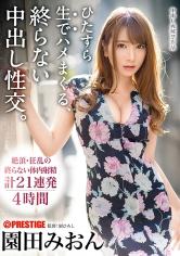 9位                                                                    園田みおん                                    ・メーカー                                                                            プレステージ                                                                                                                                                ・シリーズ                                                                                    ひたすら生でハメまくる、終らない中出し性交。