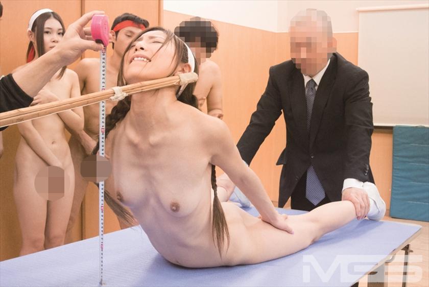 羞恥!青少年男女混合全裸体力測定 の画像13