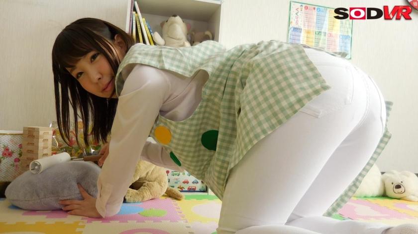 【VR】【おねシ●タVR】優しくて巨乳の先生に甘えていたら、勃起がバレて筆下ろしされてしまった! 森はるらのサンプル画像6