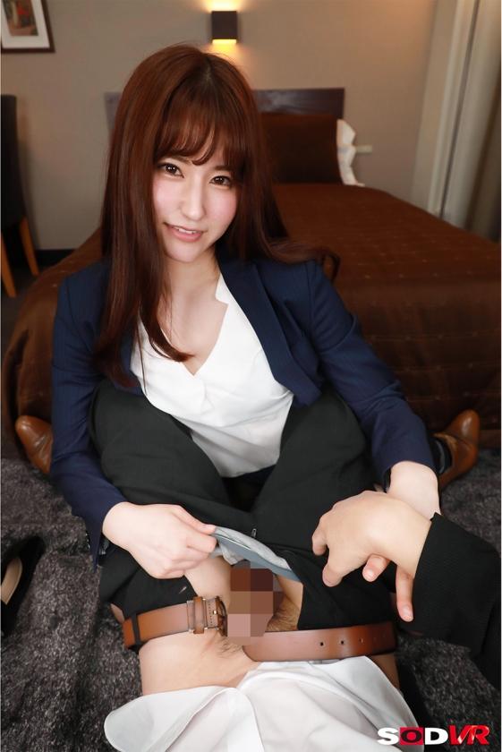 【VR】仕事のデキる女部下のスーツの下はただの変態女!仕組まれた逃げられない相部屋で朝まで性欲が満たされるまでヤラされ続けた! 吉永このみのサンプル画像2