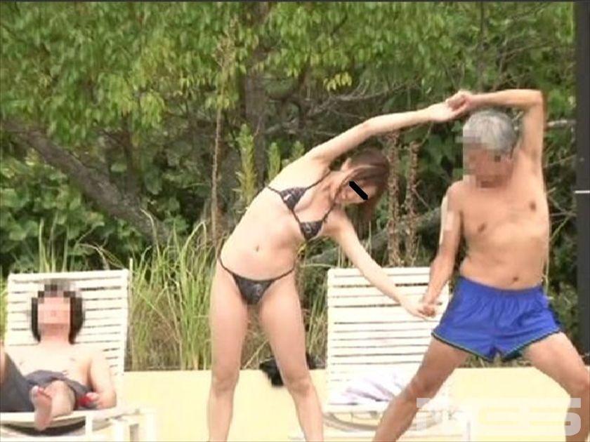 裸未満のギリギリ水着は超ハレンチ営業中のプールに『1人だけイヤらしすぎる水着で入る女の子。』 の画像8