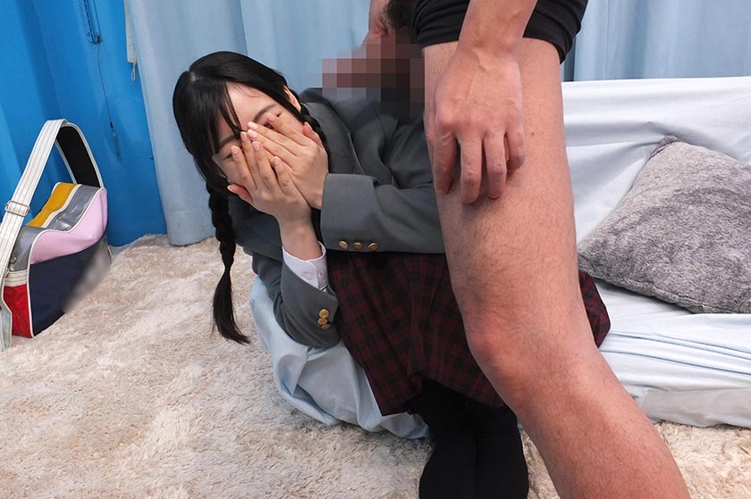 まい(18)女子◯生 マジックミラー号 初めてのおちんちん研究!かわいいお顔にぶっかけ! の画像13